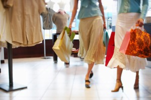 Women With Shopping Bags --- Image by © Tim Pannell/Corbis